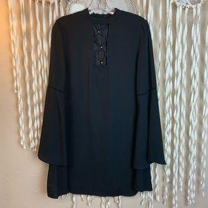 The JetSet Diaries Black Dress Bell Sleeve NWT!
